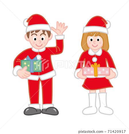 Boys and girls in Santa's cuckoo 71420917