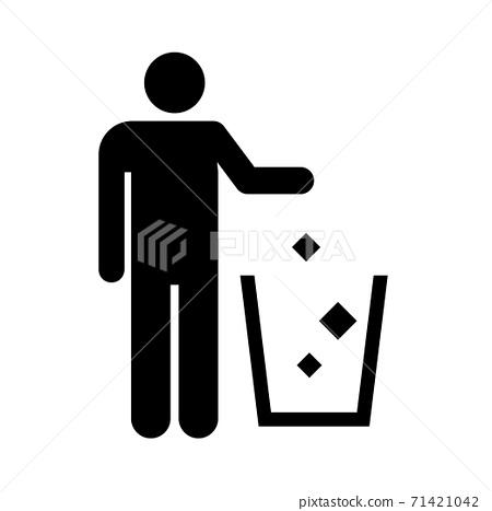 圖標垃圾桶 71421042