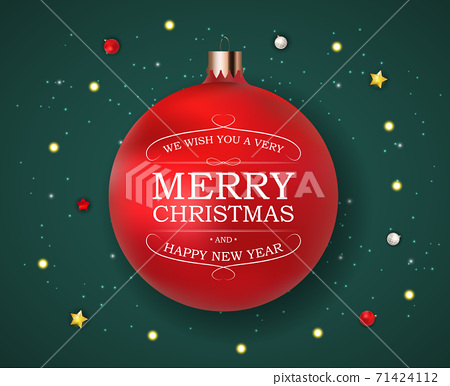 Merry Christmas and Happy New Year Background. Vector Illustration 71424112