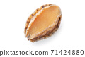 Abalone seafood food white background abalone isolated アワビ あわび abalone 切り抜き 71424880