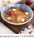 White fungus, white fungus, lotus seeds, red dates, wolfberry soup, sweet soup, snow fungus soup トレメラスープ 71424990