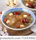 White fungus, white fungus, lotus seeds, red dates, wolfberry soup, sweet soup, snow fungus soup トレメラスープ 71424992