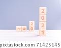 2021 new year future goal challenge wood block future goal plan ハッピーニューイヤー 71425145