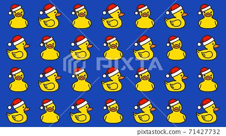 Pattern Yellow rubber duck in santa hat 71427732