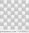 簡單瓷磚的無盡圖案(灰色調) 71430615