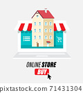 Online Store Vector Design with Laptop Compute 71431304