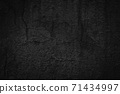 Abstract black background of cracked concrete wall 71434997