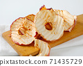 Dried apple chips 71435729