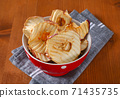 Dried apple slices 71435735