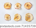 Dried apple chips 71435739