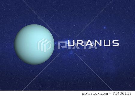 Planet Uranus in the space 71436115