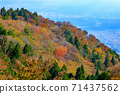 Autumn scenery taken from Mt. Yamato Katsuragi on the Nara Basin side 71437562
