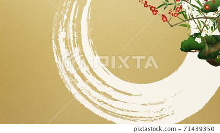 송죽매와 금박의 일본식 배경 - 여러 종류가 있습니다 71439350