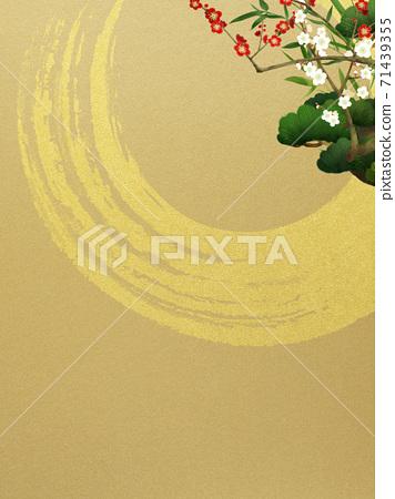 송죽매와 금박의 일본식 배경 - 여러 종류가 있습니다 71439355