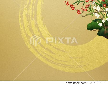 송죽매와 금박의 일본식 배경 - 여러 종류가 있습니다 71439356