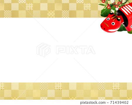 빨강 모든 것을 송죽매를 장식 한 화려한 체크 무늬 배경 - 여러 종류가 있습니다 71439402
