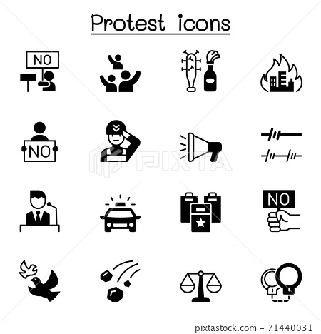 Protest icon set vector illustration graphic design 71440031