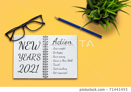 2021 Happy New Year Resolution Goal List 71441455