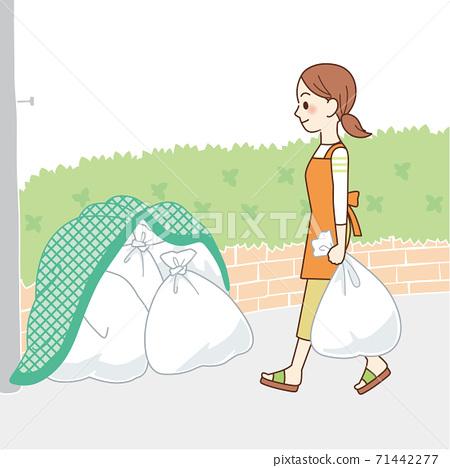 家庭主婦要拿出垃圾 71442277
