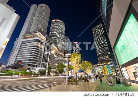 Illuminations in front of Nagoya Station JR Central Towers JR Gate Tower JP Tower Nagoya Dai Nagoya 71449119
