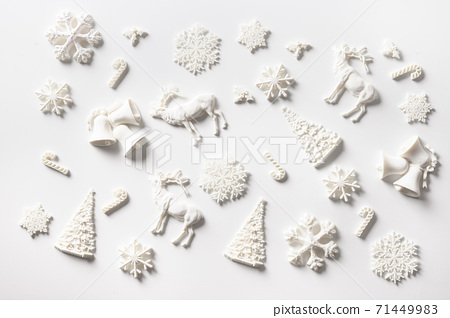 Christmas pattern of white holiday DIY decoration 71449983