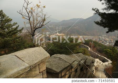 도성.한양.순성길.북악산.서울시.가을 71450501