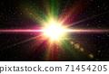 화려한 빛 광택 추상 71454205