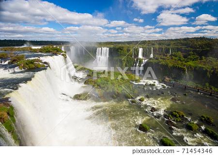 View of Iguazu Falls from brazilian side - Foz do Iguazu, Brazil 71454346