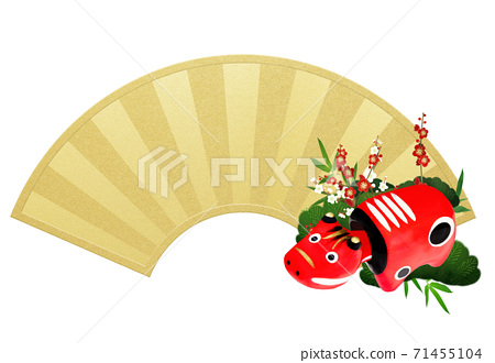 Red beetle and fan decoration-There are multiple variations 71455104