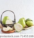 Guava guava wood background rustic leaf Guava white fruit leaf グアバ fruit 71455166