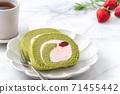 Swiss roll Swiss roll Cake roll Matcha Strawberry Matcha roll cake スイスロール ロールケーキ 71455442