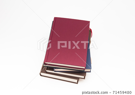 Stack of books pile on white background 71459480