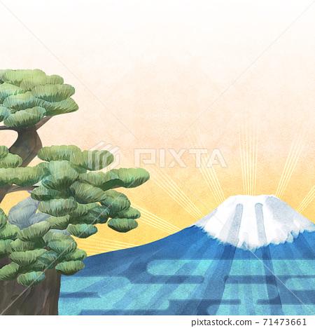 소나무와 후지산의 배경 일러스트 71473661