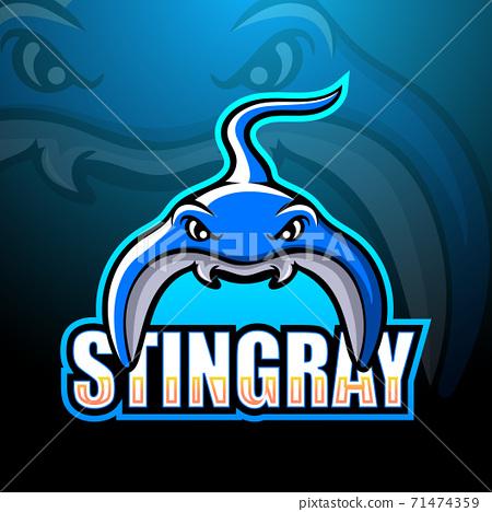 Stingray mascot esport logo design 71474359