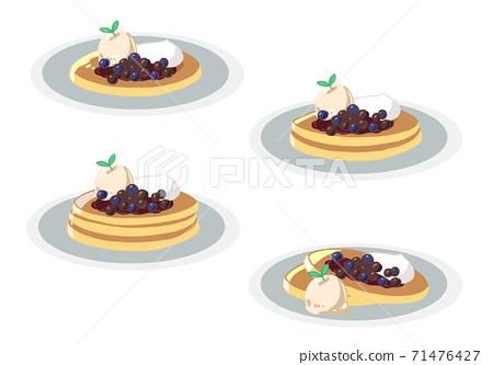 煎餅藍莓和摘心(無行) 71476427