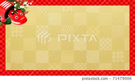 빨강 모든 것이 빨간 체크 무늬 프레임 - 여러 종류가 있습니다 71479006