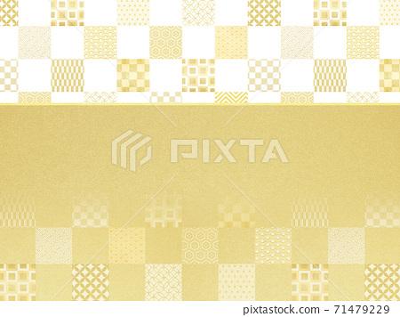 금색과 흰색 체크 무늬 - 여러 종류가 있습니다 71479229