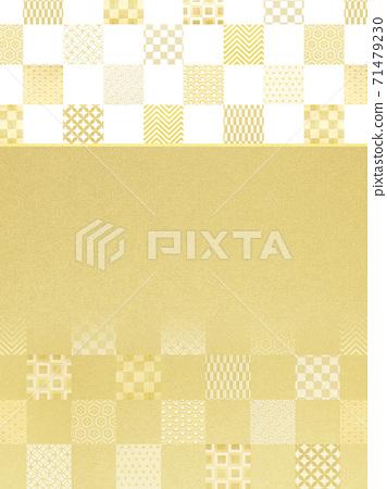 금색과 흰색 체크 무늬 - 여러 종류가 있습니다 71479230
