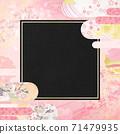 感覺到日本紙質地的背景材料春天,櫻花季節[1:1] 71479935