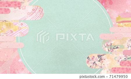 종이의 감촉을 느낄 배경 소재 봄, 벚꽃의 계절 [16 : 9] 71479950