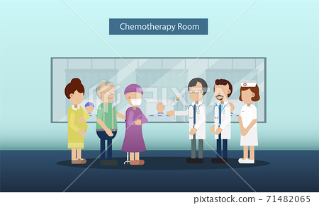 Chemotherapy room with patients 71482065