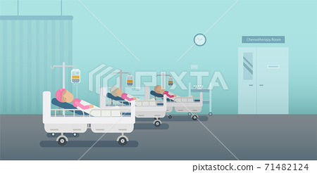 Chemotherapy room with patients 71482124