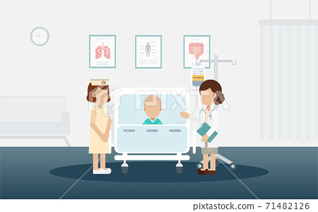 Chemotherapy room with patient 71482126