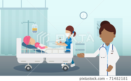 Chemotherapy room with patient 71482181