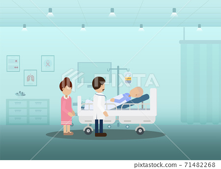 Chemotherapy room with patient 71482268