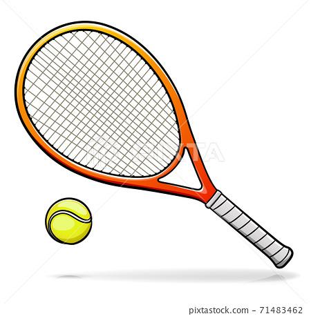 Vector tennis racquet illustration cartoon 71483462