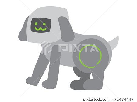 개 애완 동물 로봇의 일러스트 71484447