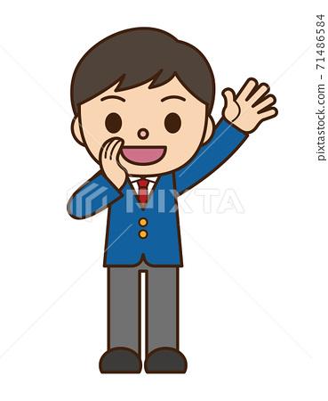 男士學生西裝外套打電話 71486584