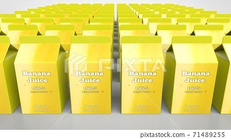 banana juice 500ml multiple 3d rendering 71489255