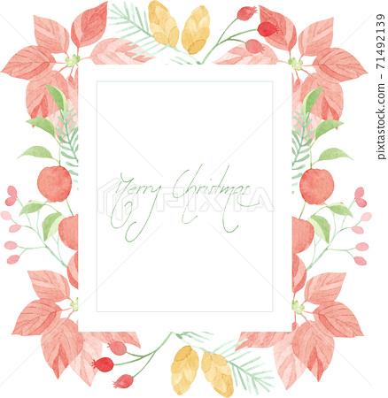 聖誕幀畫水彩 71492139